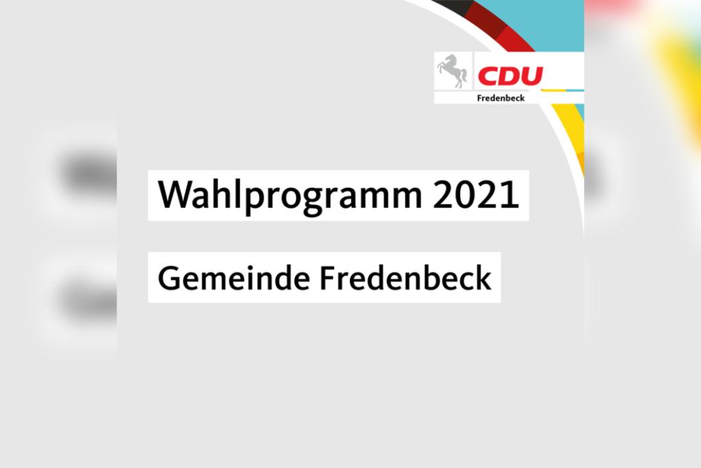 Wahlprogramm 2021 – Gemeinde Fredenbeck